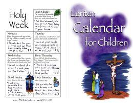 49 best faith liturgy images on pinterest catholic faith and lenten calendar for children fandeluxe Image collections