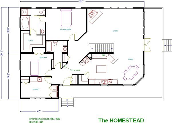 Square house plans rambler house plans and rambler house for Rambler floor plan