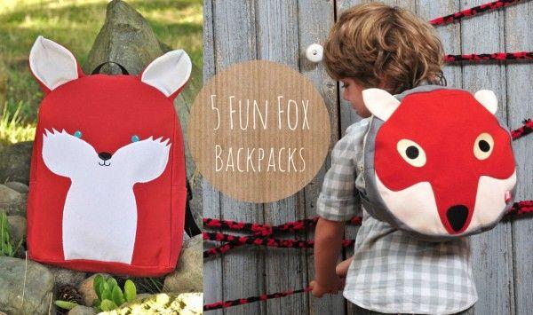 5 Fun Fox Backpacks For Kids! #fox #kids #backpacks
