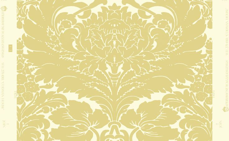 Codman House Damask WH 271-03 Yellow by Waterhosue Wallhangings