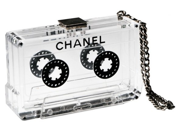Vintage Classic Cassette Clutch Handbag Transparant.  Designed by Karl Lagerfeld.    Read more at: http://usafashiontrends.com/2011/vintage-classic-cassette-clutch-handbag