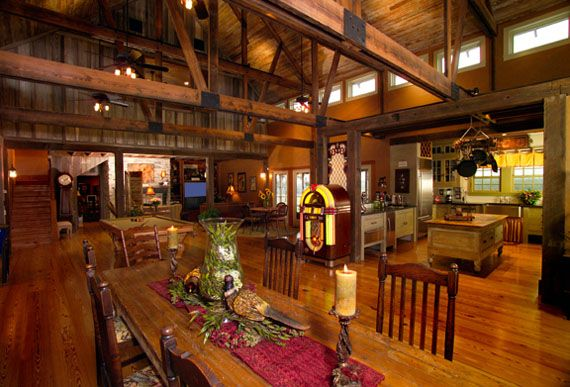 My dream house is an old barn...I just love the open concept and laid-back feel.