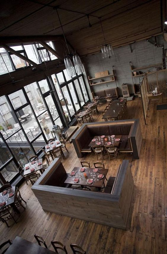 Sugoi desu ne!!  I've always wanted a cafe/diner business someday. Sooooo beautiful! Have you even been inlove c a place Reminds me of the cafe from Stolen movie c the floor-to-ceiling windows 13 Stylish Restaurant Interior Design Ideas Around The World.: