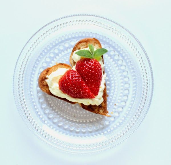 Strawberry heart shaped shortcakes for Valentine's day!