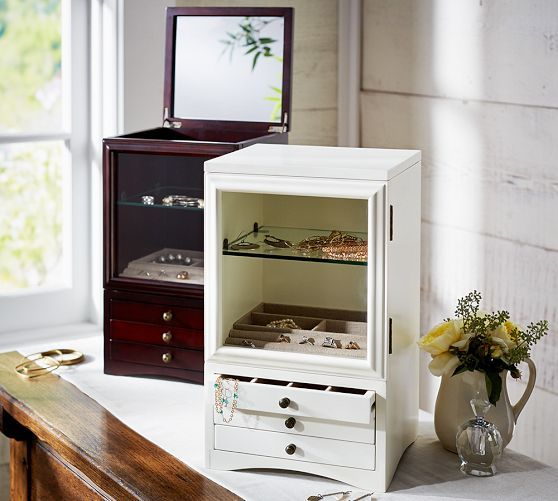 Andover Tall Jewelry Box | Pottery Barn