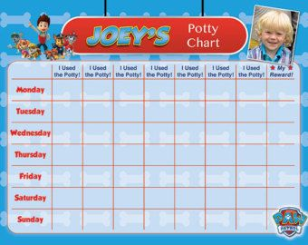 Paw Patrol Inspired Potty Training Chart Potty Training