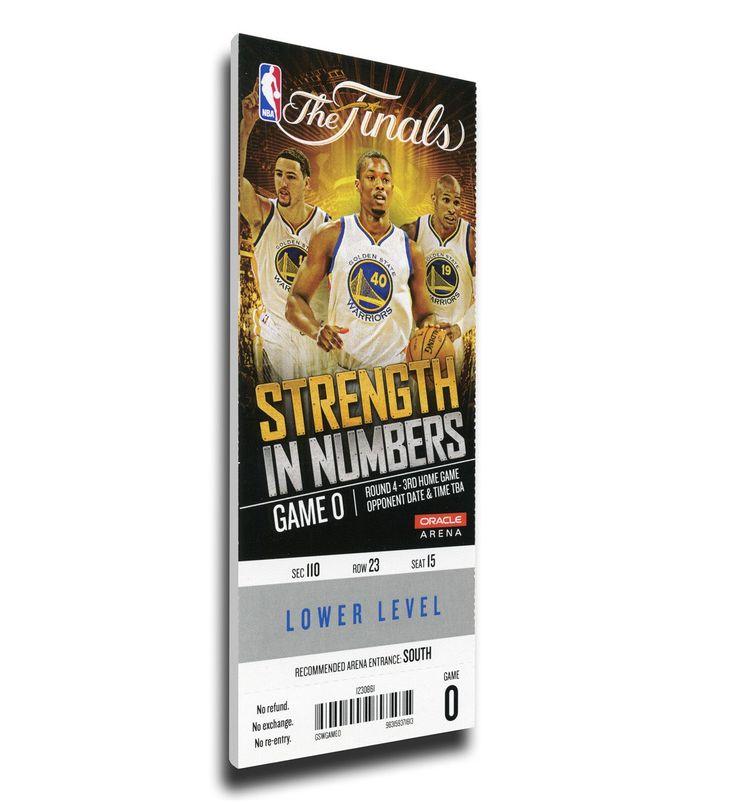 Golden State Warriors Wall Art - 2015 NBA Finals Game 5 Canvas Mega Ticket