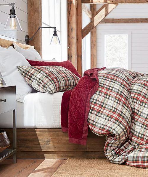 Denver Plaid Duvet Cover c a b i n Pinterest Christmas bedding