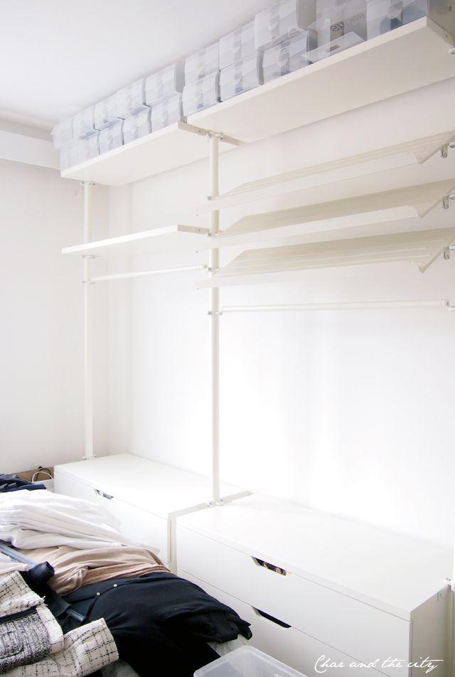 ikea stolmen open closet char the city blog. Black Bedroom Furniture Sets. Home Design Ideas