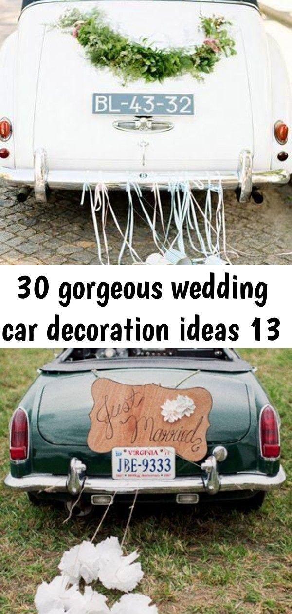 30 Gorgeous Wedding Car Decoration Ideas 13 Gorgeous Wedding Car Decoration I 30 Gorgeous Wedding Car Decoration Car Decor Wedding Car Gorgeous Wedding