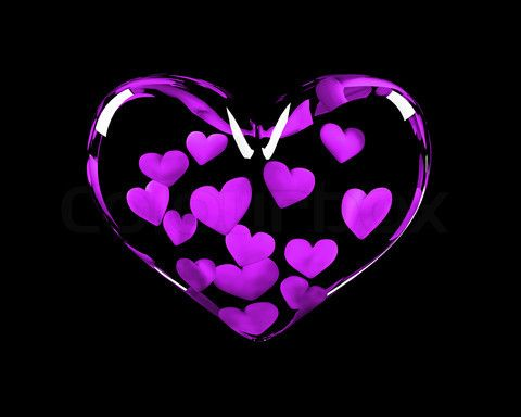 So graceful transparent hearts full of little purple hearts