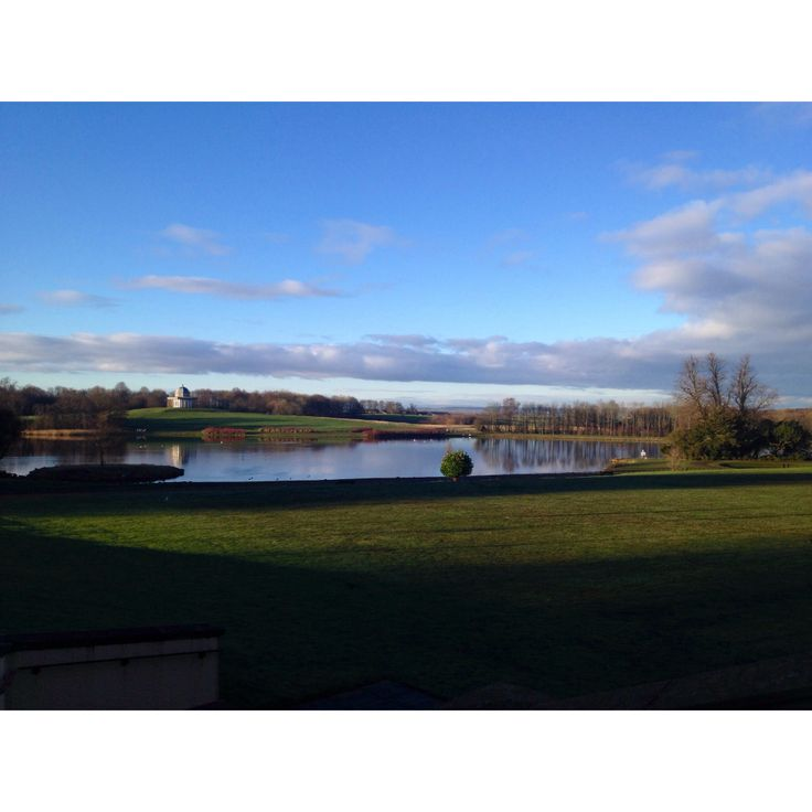 Beautiful view from Hardwick Hall Hotel in sedgefield at 8am.