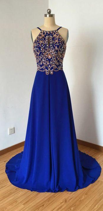 Long Dress For Prom With Halter Neckline pst0626 on Storenvy