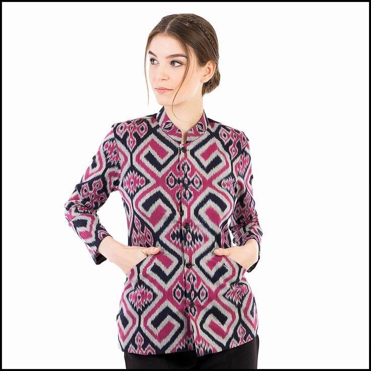 Model Kemeja Batik Wanita Terbaru di 2020 | Model pakaian ...