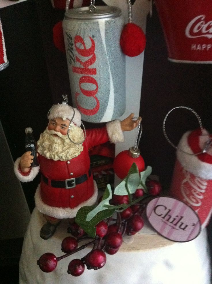 Natale con addobbi coca cola!