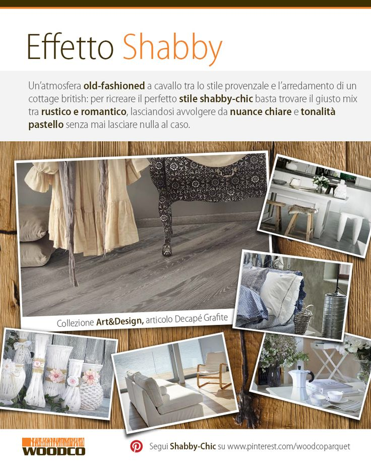 An old fashioned atmosphere with a shabby-chic house! #wood #shabby-chic #parquet #interior