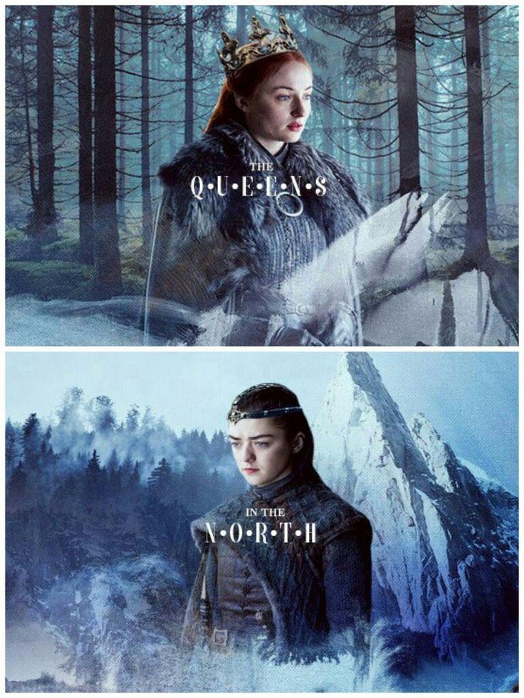 #game of thrones x #sansa x arya stark