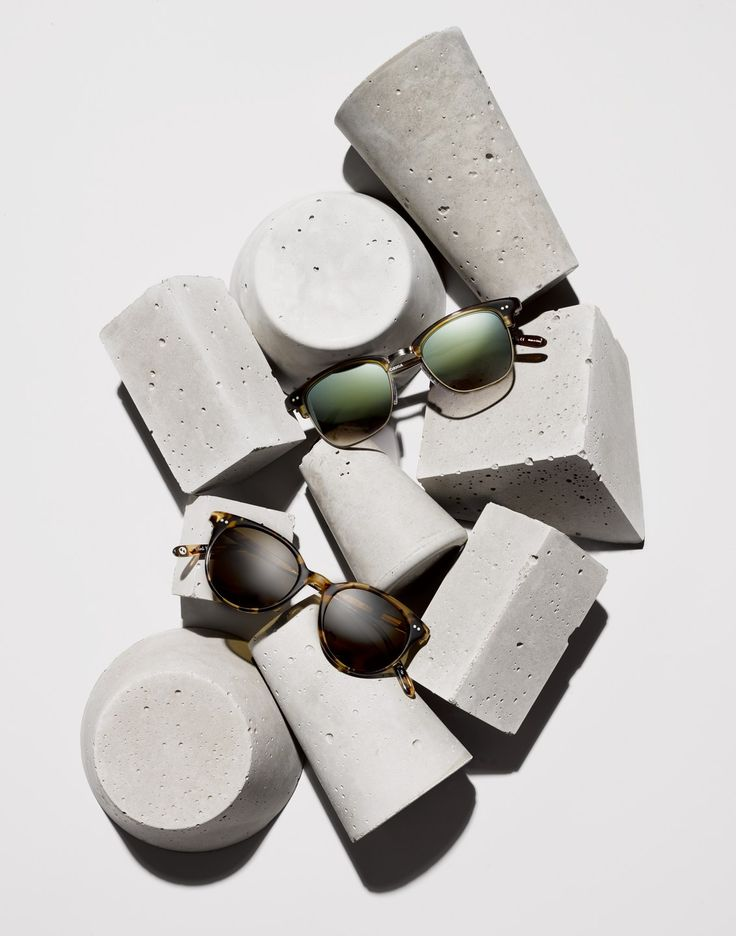 Sunglasses and concrete.