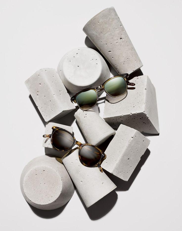 Sunglasses and concrete.
