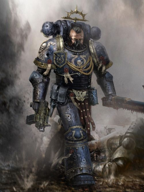 childrenofexcess:  Finally a space marine with understandable proportions. Also one of the more brutal looking smurfs that I have seen.