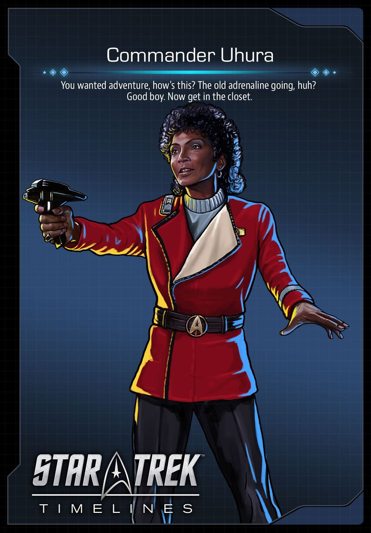 Commander Uhura (Nichelle Nichols) from Star Trek III: The Search For Spock