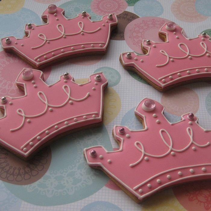 royal icing cookies for sale | Tiara's for a 'Lil Princess! | Kate's Cookies | madeit.com.au
