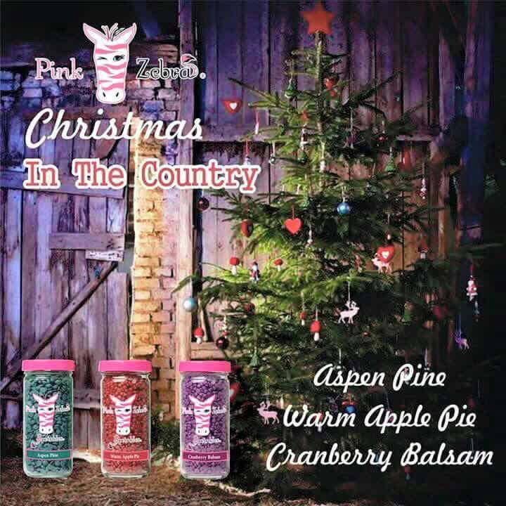 Pink Zebra Recipe: Christmas in the Country.  Featuring Aspen Pine, Warm Apple Pie and Cranberry Balsam