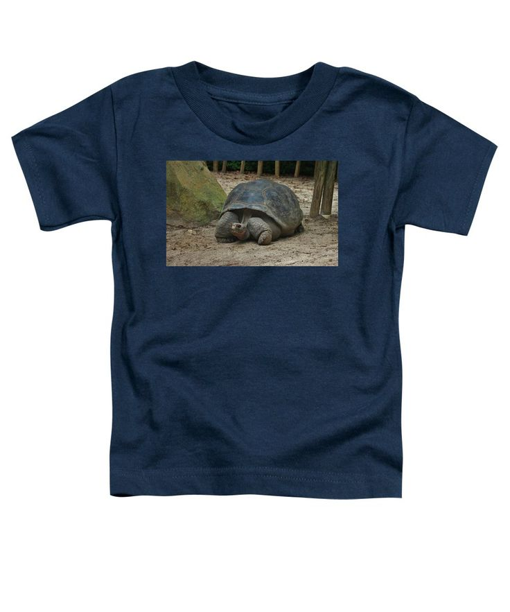 Giant Tortoise Toddler T-Shirt featuring the photograph Galapagos Tortoise by Cynthia Guinn