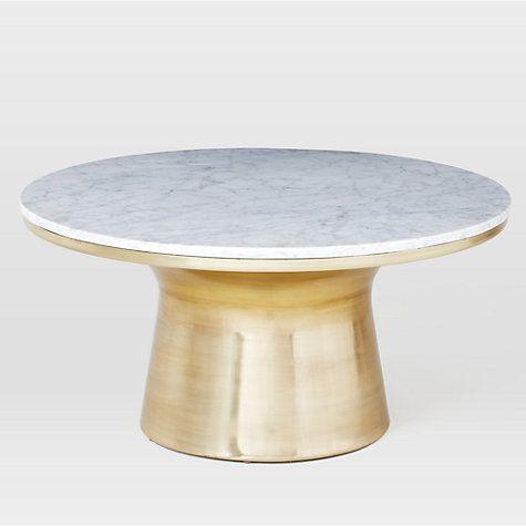 Buy west elm Marble Pedestal Coffee Table Online at johnlewis.com