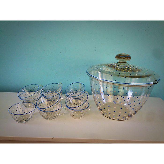Online veilinghuis Catawiki: 10-delige bowlset met koude beschildering