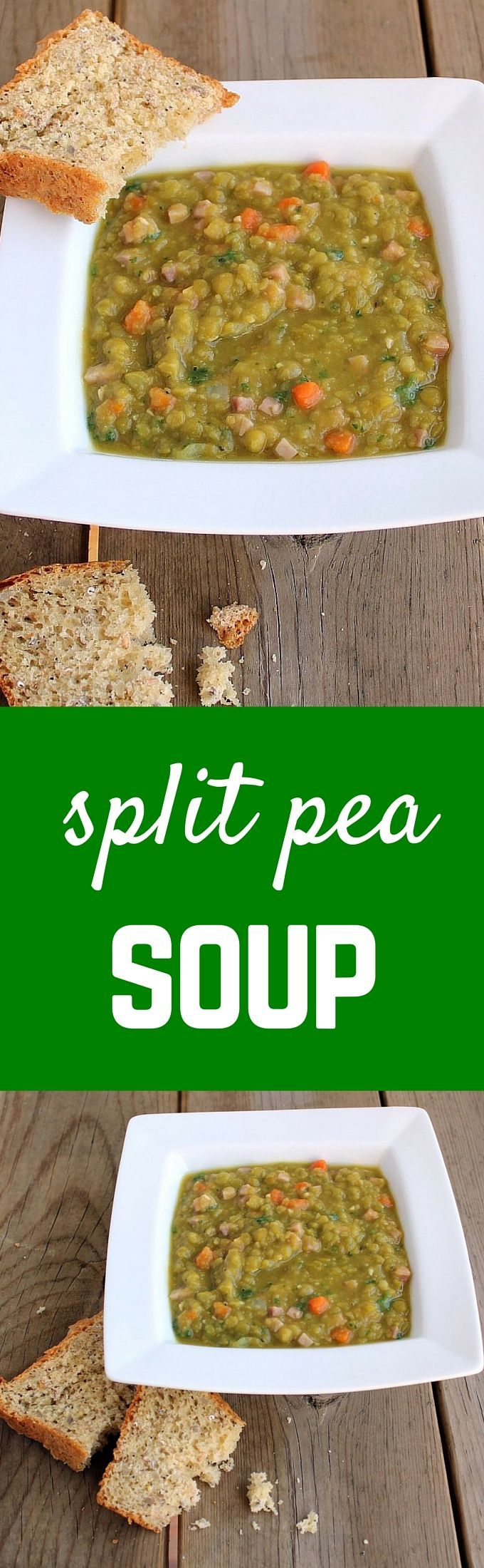Warm, comforting, and easy to prepare split pea soup. This is one of the best easy split pea soup recipes out there! Get the easy soup recipe on RachelCooks.com!