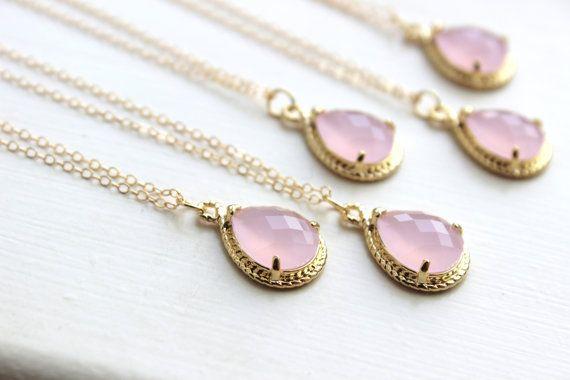 15% de descuento conjunto de ópalo 6 Blush collar rosa oro