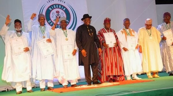 Searchlight Nigeria: Photo News : Centenary Awards, Honourees Receiving Their Awards