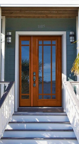 Front Door With Large Inlaid Window And Side Light New House Ideas Pinterest Doors Exterior Design
