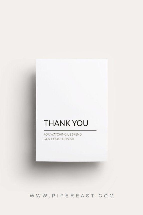 Modern Thank You Card Printable Wedding Cards Editable Pdf