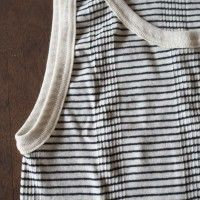 Exceptional comfort!  Friendly comfortable while there is a fit.  Year-round item to wear.  Length is also makes active for layering because the longer design.   MILLER border tank top  http://kanden43.jp/?pid=1513000   #HoldinghandsHerat #MILLER #Bordertanktop #tanktop #Tops #cut #LadiesTankTop #LadiesFashion #NaturalFashion #Natural #Naturalsystem #selectshop #Japan