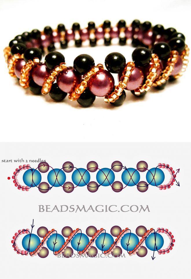 Kostenloses Muster für Perlenarmband Pamela | Per…