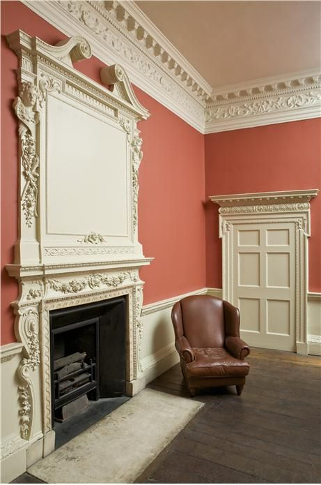 Lounge with walls in Blazer Estate Emulsion, woodwork/lower walls in String Estate Eggshell/Emulsion and detailing in All White Soft Distemp...