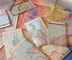 she had an obsession with maps. They were colorful, she said