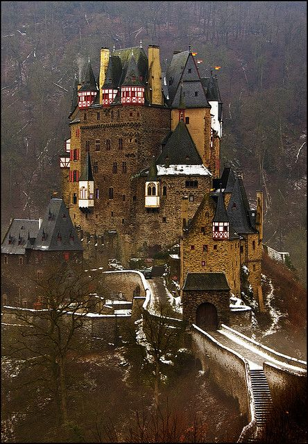 Castle Eltz. Above the Mosel River between Koblenz and Trier, Germany.