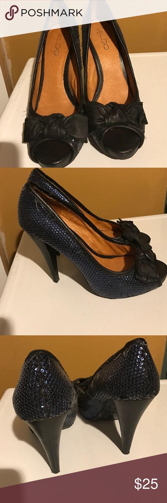 Aldo heels. Sparkle size 37 navy blue and black. Aldo heels. Sparkle size 37 navy blue and black. Aldo Shoes Heels