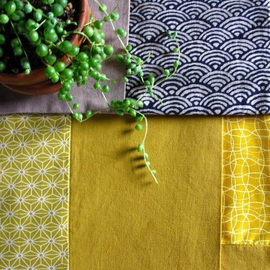 love this navy and yellow // geometrics