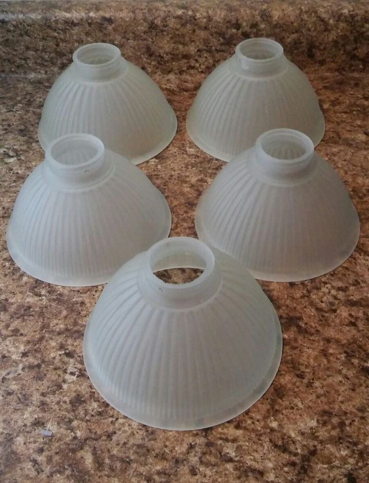 Frosted Glass Chandelier / Ceiling Fan Vanity Light Cover Globes Set of 5