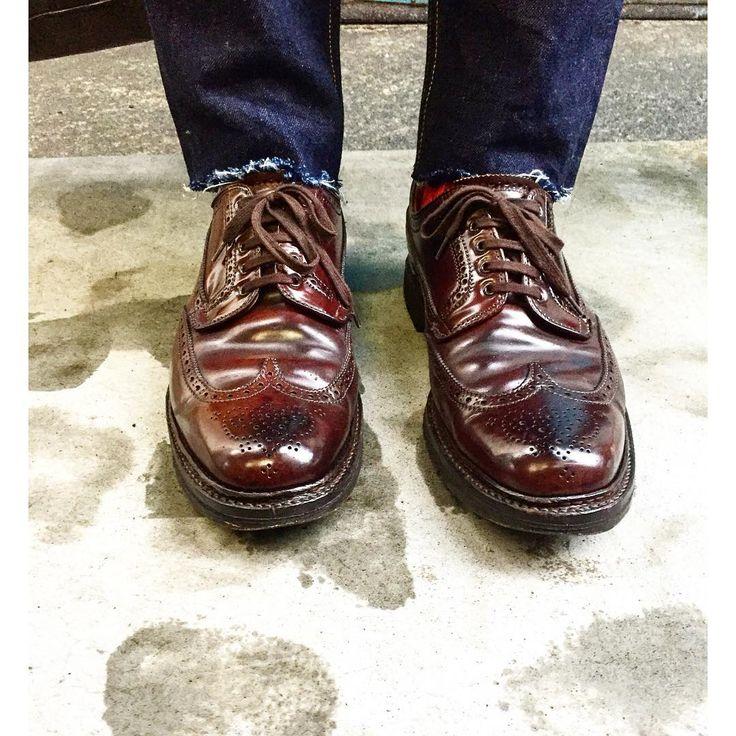 Alden Brogue #horween #shellcordovan #aldenshoes #cordovan #shoes #footwear
