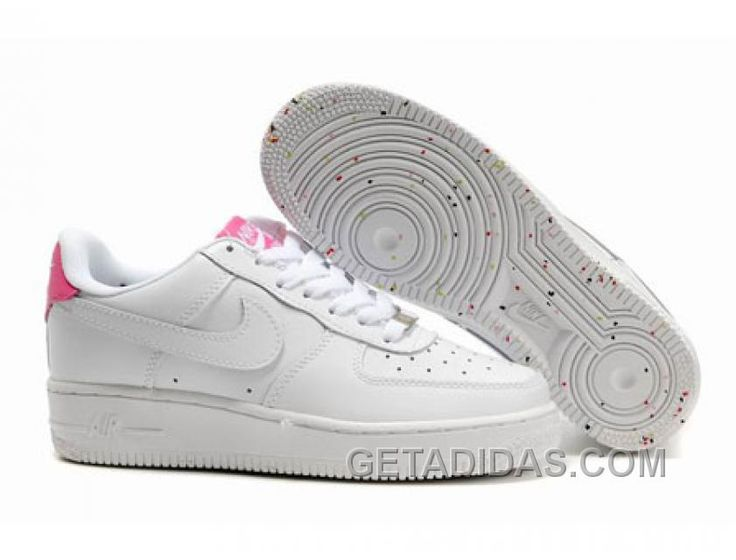 White Nike Woman Air Force One Retro Style Shoes