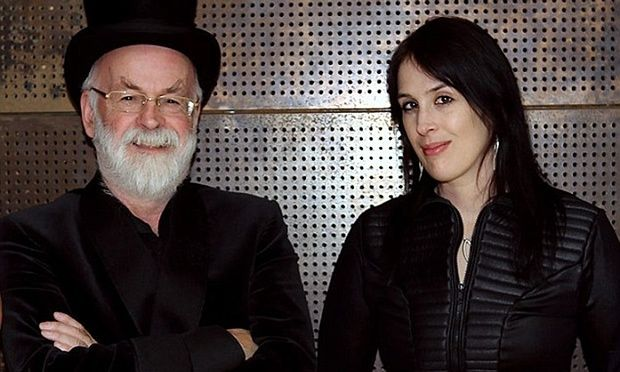 Rhianna Pratchett with her father, Sir Terry Pratchett. This is an article she wrote, remembering her father. It's rather lovely. :')