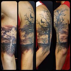 No interest in having roots in own tattoo; white tree pops