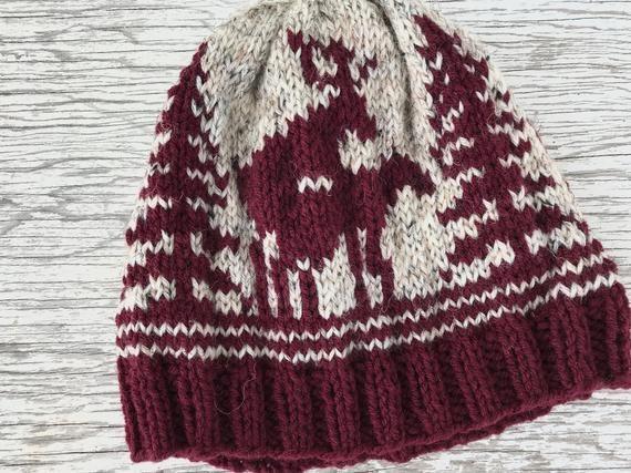 GIFT for Him, Custom Gift for Boyfriend Husband, Hunting Season Knit Deer Hat, Pick your colors!