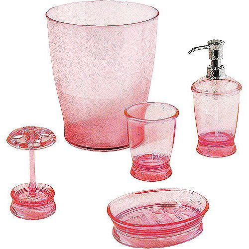 Black And Pink Bathroom Accessories