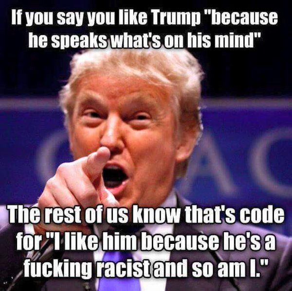 Donald Trump Racist Quotes Glamorous 48 Best I Hate Trump Images On Pinterest  Politics Truths And . Inspiration